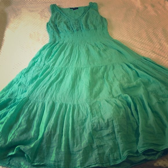 Gorgeous Teal Summer Dress Tag states 2x but def fits more like a XL/1X. Is super light weight, lined, and stretchy! Perfect for that upcoming trip to the beach! Amazon Dresses Maxi