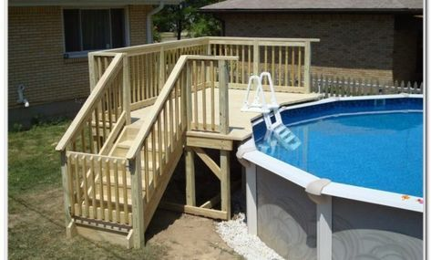Above Ground Pool Deck Framing Plans Pool Deck Plans Small Backyard Pools Backyard Pool