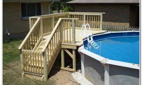 Above Ground Pool Deck Framing Plans Pool Deck Plans Pool Patio Backyard Pool
