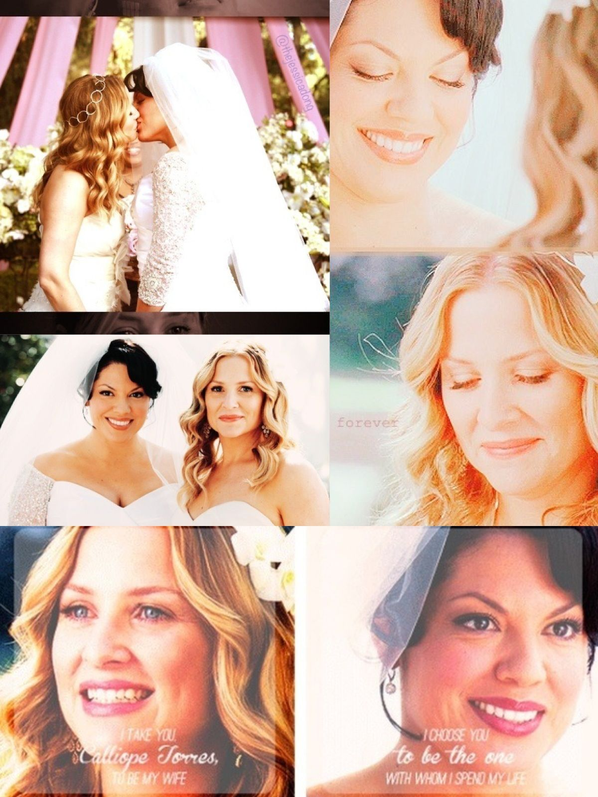 So Mad That They Had One Of The Most Beautiful Weddings And Relationships On The Show And Then Satan I Me Greys Anatomy Callie Greys Anatomy Lexie Grey