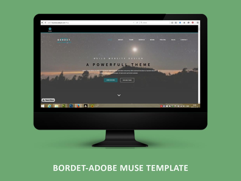 Bordet Adobe Muse Template #adobecc #adobemuse #adobetemplate #musetemplate #musecc #muse #webtemplates #templates #html5 #jquery #webdesigner #designer #webdesign #design