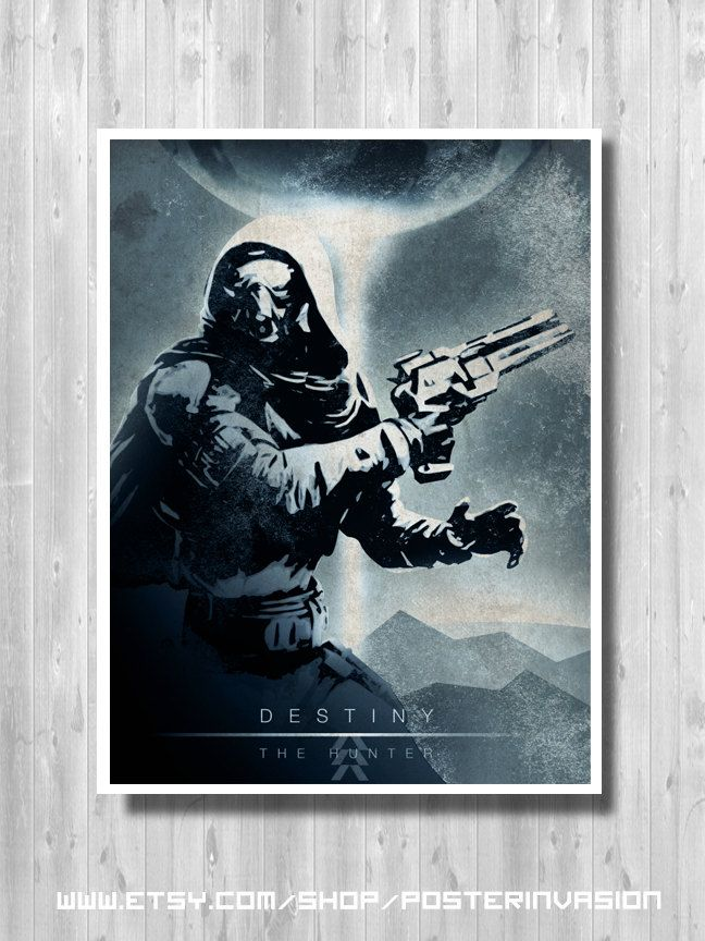 The Hunter poster - Destiny video game, Destiny print, Destiny Art, Weapon, Destiny Decor, Quality Digital Art Print