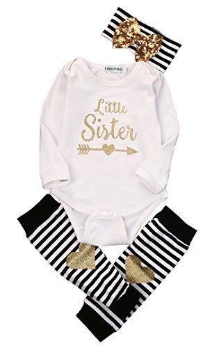cb81dc01e Newborn Baby Boy Girl Romper Tops HeadbandLeg Warmer 3PCS Outfits ...