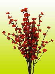 Decoracion Ramo Flores Y Ramas Secas Interiores Flower Art Red