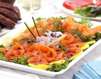 Pin By Freshdirect On Merry Christmas Seafood Entrees Cold Meals Smoked Salmon Appetizer