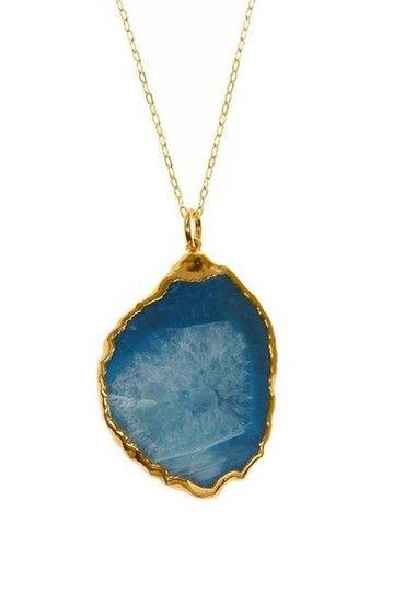 Charlene K Gold Plated Gemstone Pendant
