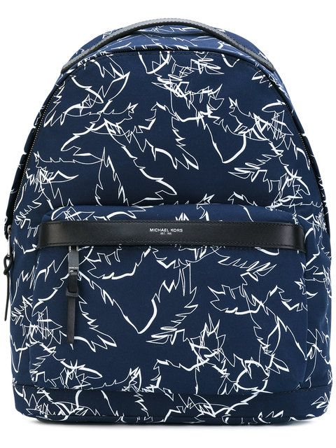 33a9304305d2 MICHAEL KORS Grant palm print backpack.  michaelkors  bags  nylon   backpacks  cotton