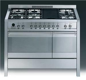 Smeg 120cm Stainless Steel Freestanding Oven With Gas Top Smeg Freestanding Oven Kitchen