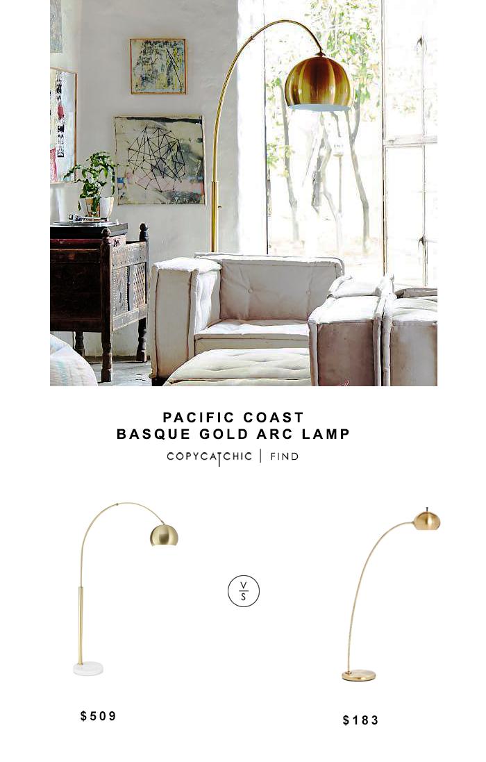 Pacific Coast Basque Gold Arc Lamp