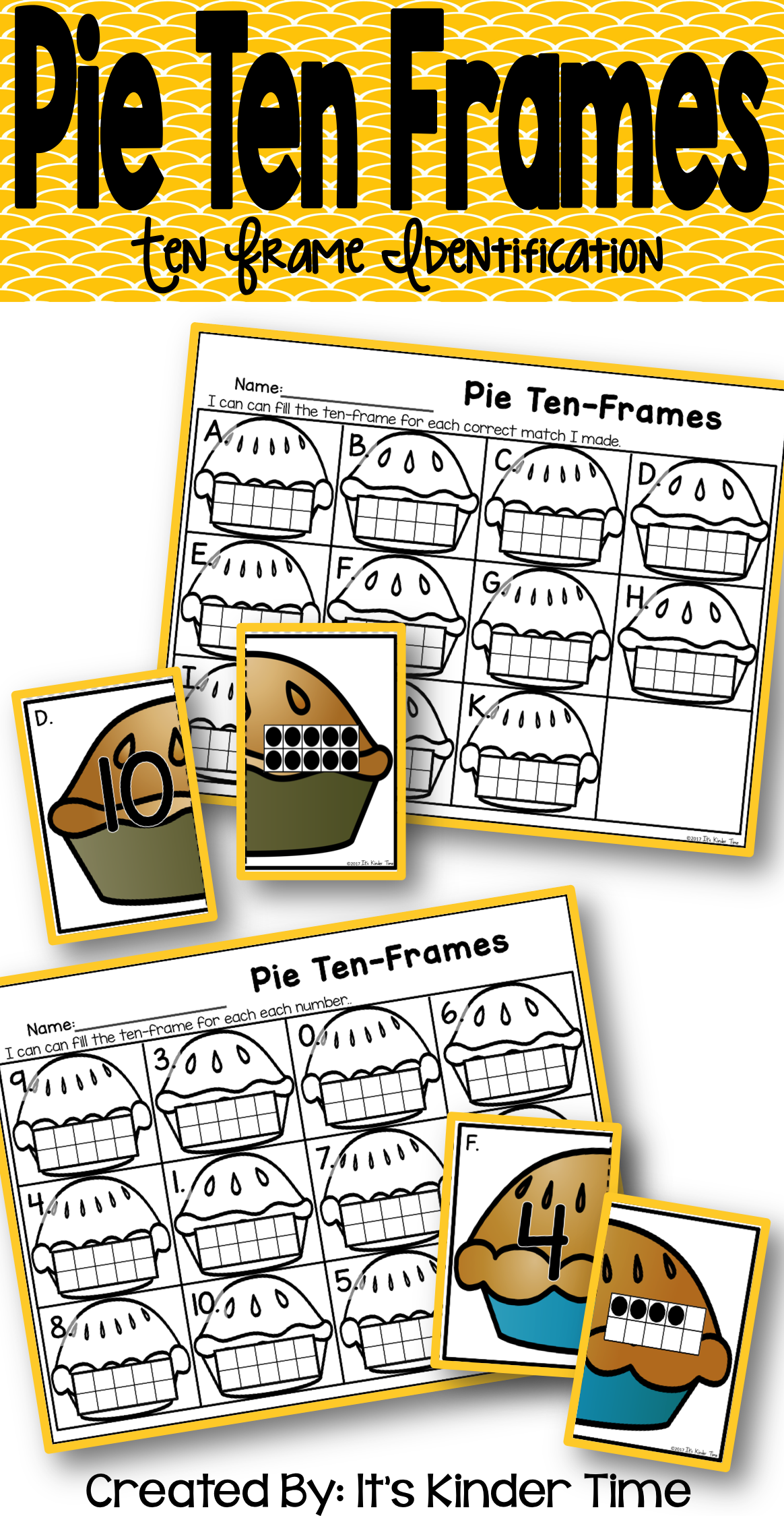 Pie Ten Frames