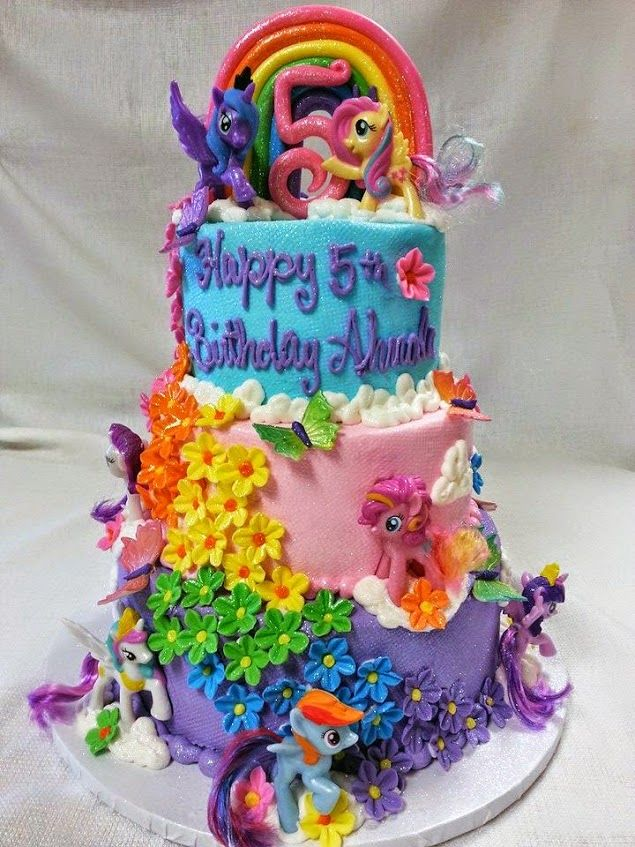 My Little Pony Birthday Cake Decorated By ShopBakersNook