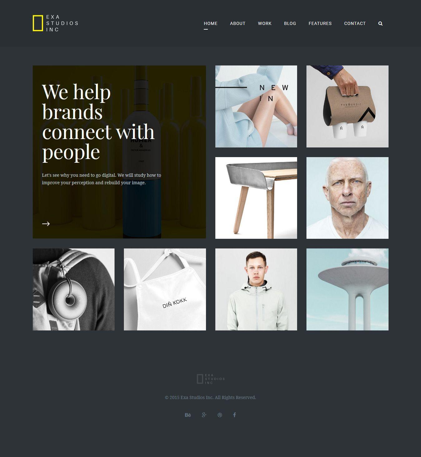 Exa - A Fresh & Creative Portfolio HTML5 Template | Creative ...