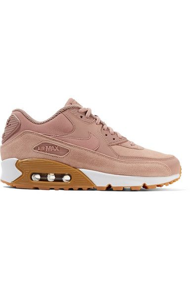 Nike Air Max 90 Suede-trimmed Leather Sneakers - Antique rose | Pink nikes,  Sole and Antique roses