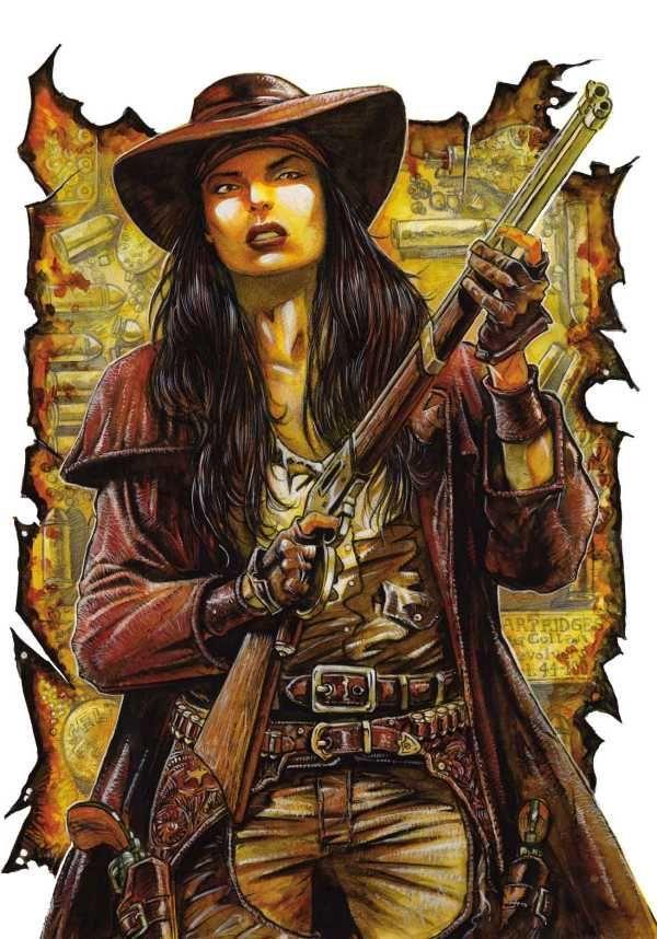 APACHE SKIES 2 Female Gunslinger Apache Sky Wierd West
