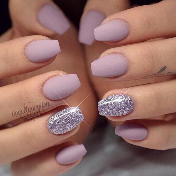 130 Glitter Gel Nail Designs For Short Nails For Spring 2019 Page 40 Short Coffin Nails Designs Glitter Gel Nails Coffin Nails Designs