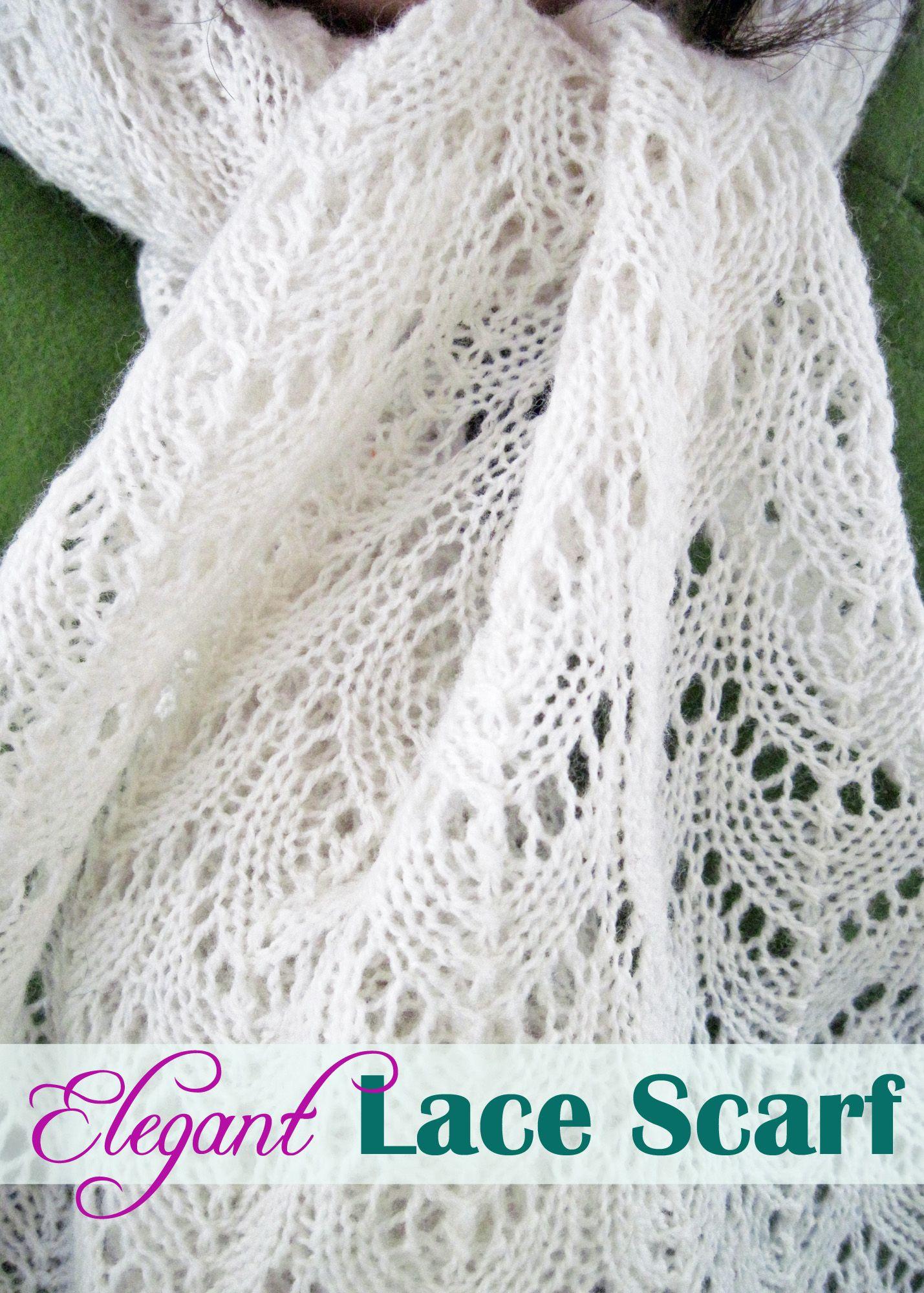 """Kostenfreie Print-Anleitung (engl) für den """"Elegant Lace Scarf"""" von Melanie Smith"""