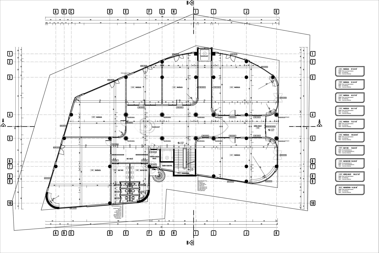 Ground Floor Plan Akçay AVM-Positive Architecture Studio