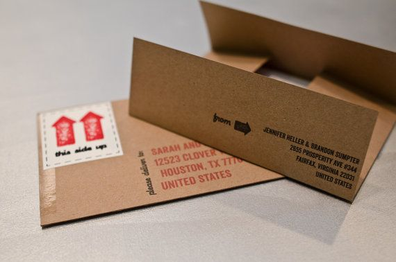 Cardboard Box Moving Announcements  Set of by RibbonsandBluebirds, $30.00