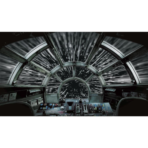 York Wallcoverings Star Wars Millennium Falcon Black And Gray Peel And Stick Murals Rmk11458m Bellacor Millennium Falcon Star Wars Futuristic Architecture