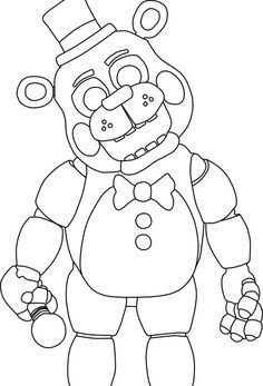 freddy coloring pages five nights at freddy's coloring pages   Google Search: | fnaf  freddy coloring pages