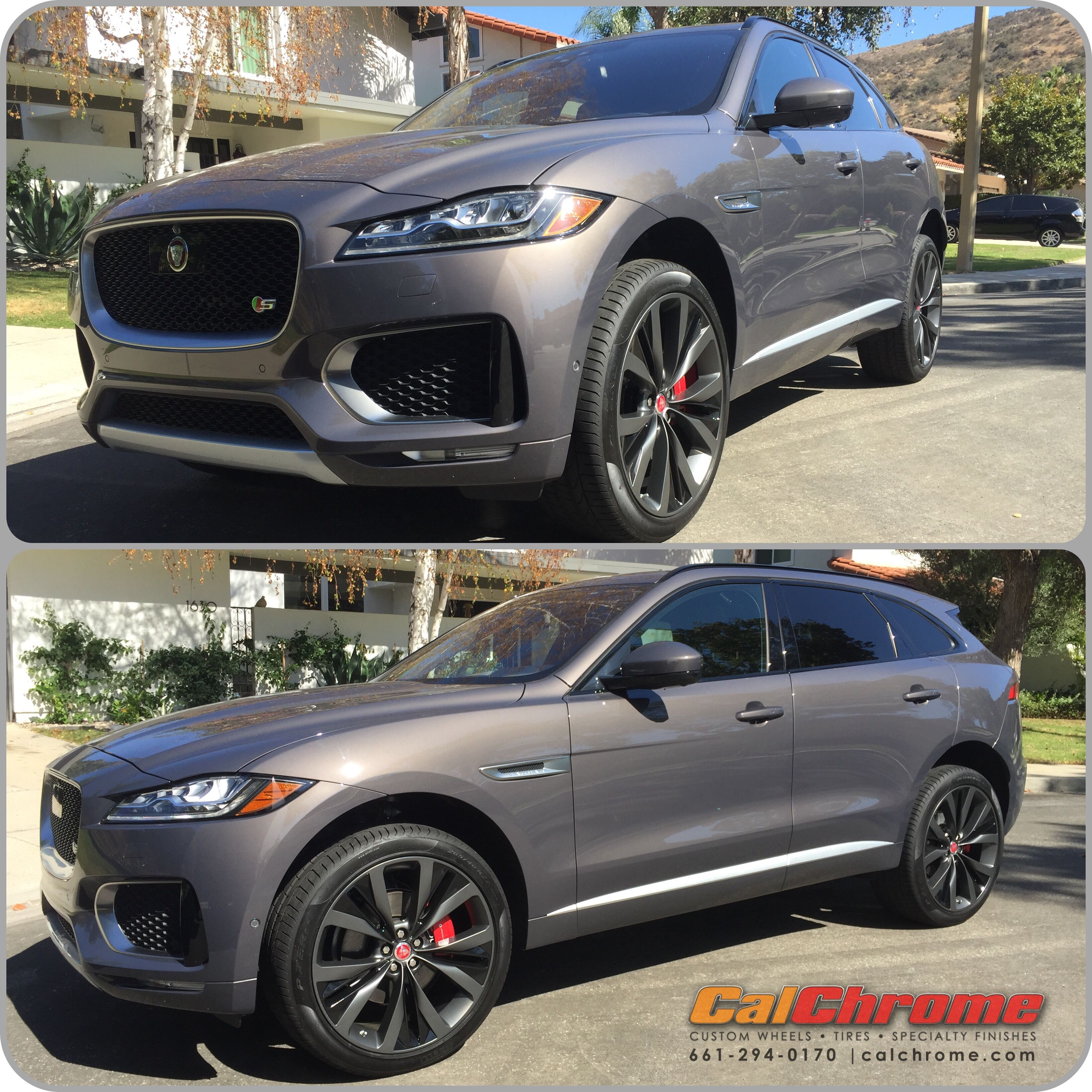 2017 Jaguar F Pace With 22 New Evo Grey Powder Coated Wheels With