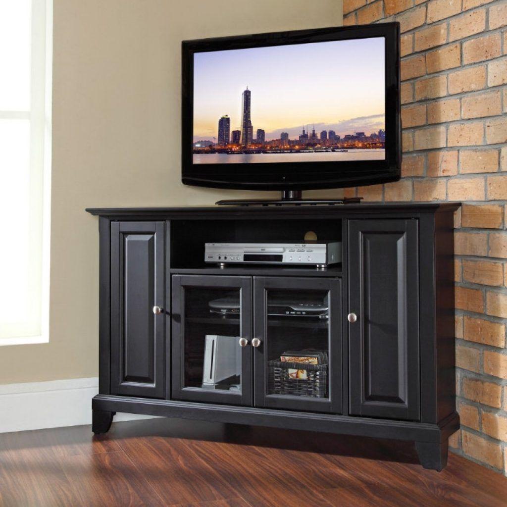 Low black corner cabinet