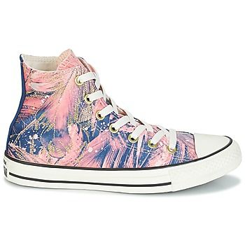 ebcfe562f0e9 Converse Chuck Taylor All Star Hi Feather Print Pink - Free Delivery with  Rubbersole.co.uk ! - Shoes Hi top trainers Women £ 55.70