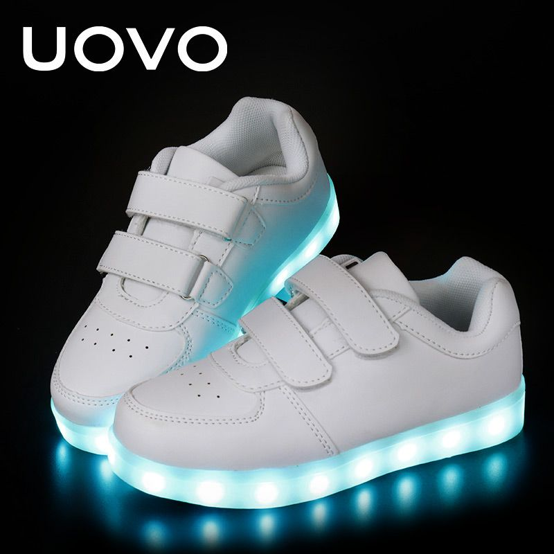 the best attitude 06a96 40d78 UOVO Kinder Luminous Schuhe kleinkind Jungen & Mädchen LED ...