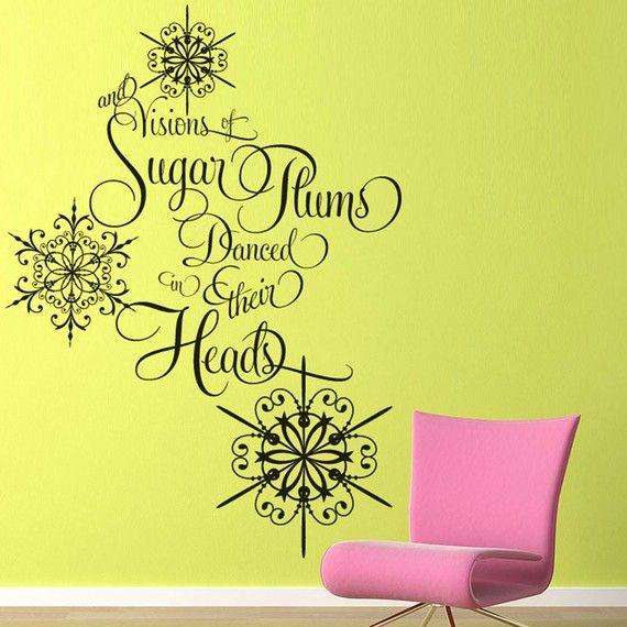 Vinyl Wall Decal Sticker Art Sugar Plums by wordybirdstudios, $36.95 ...