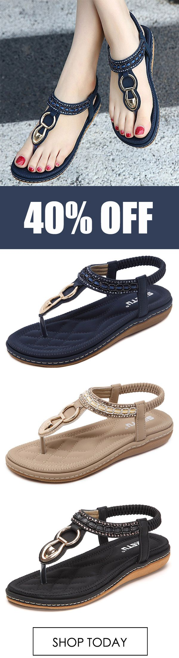 a7d80ff6a2c9 SOCOFY Outdoor Beach Flat Flip Flops Casual Flat Sandals.  fashion  summer   women  style  outfits