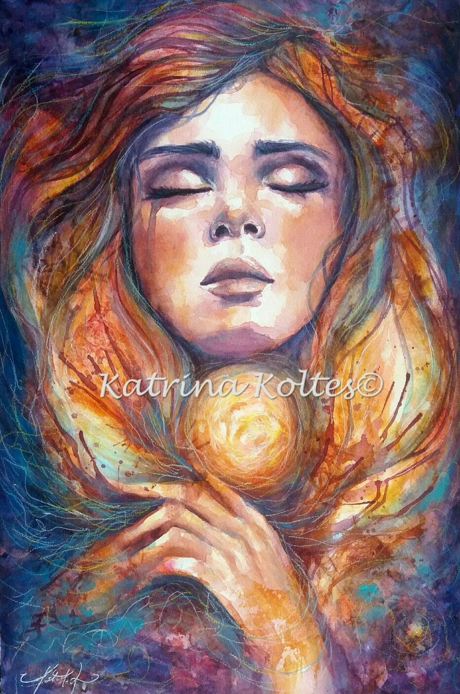 """Soul whispers"" mixed mesia painting by Katrina koltes"