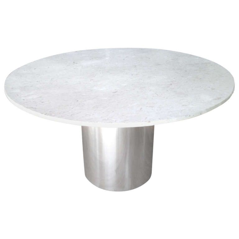 images about dining tables on pinterest center table game tables and furniture: round white marble dining table