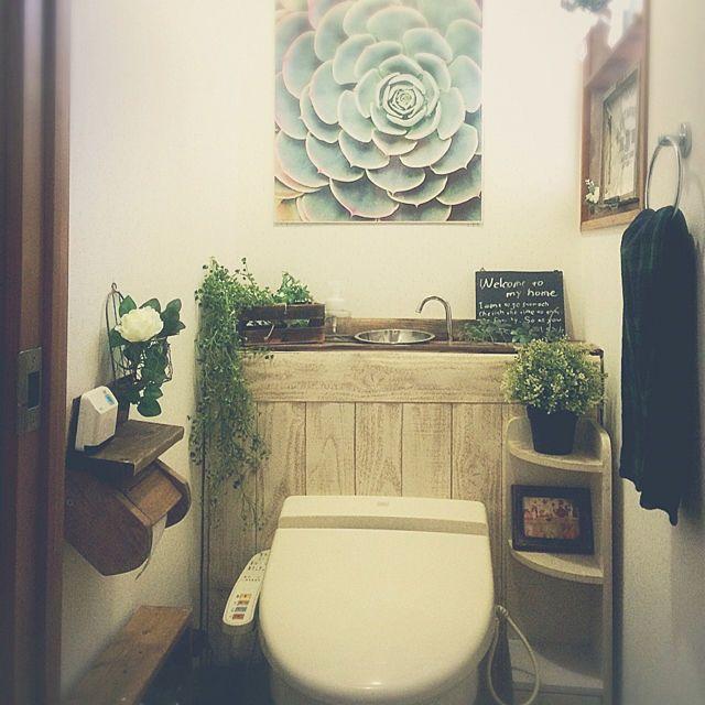 バス トイレ 生理用品収納 黒板 壁紙屋本舗 トイレットペーパー