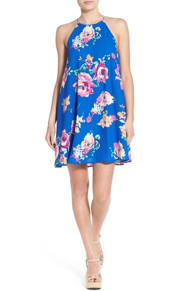 everly floral dress dresses nordstrom visit trapeze neck print high available comments may