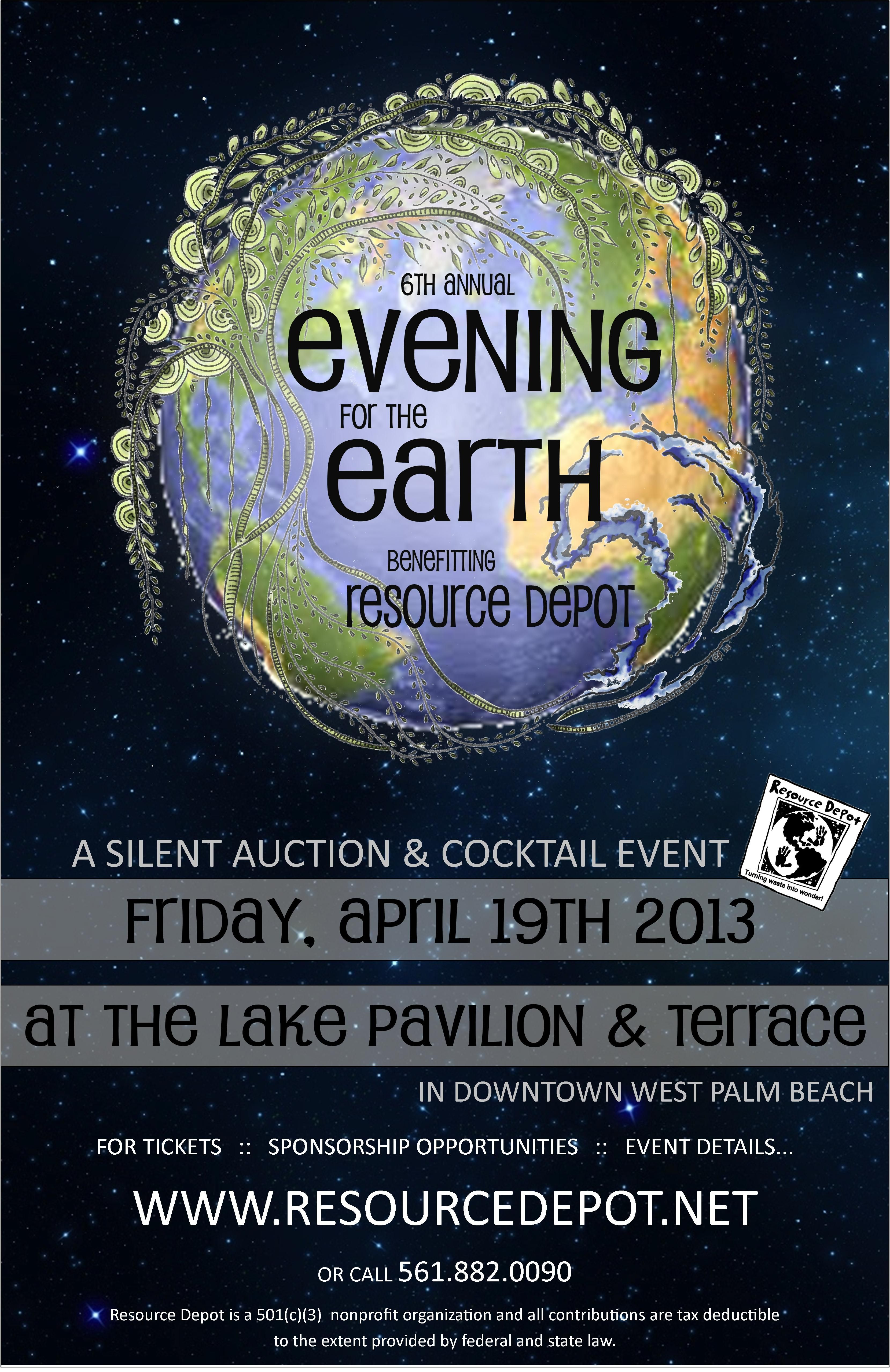 6th Annual Evening for the Earth :: 4.19.13 :: Learn more at www.resourcedepot.net