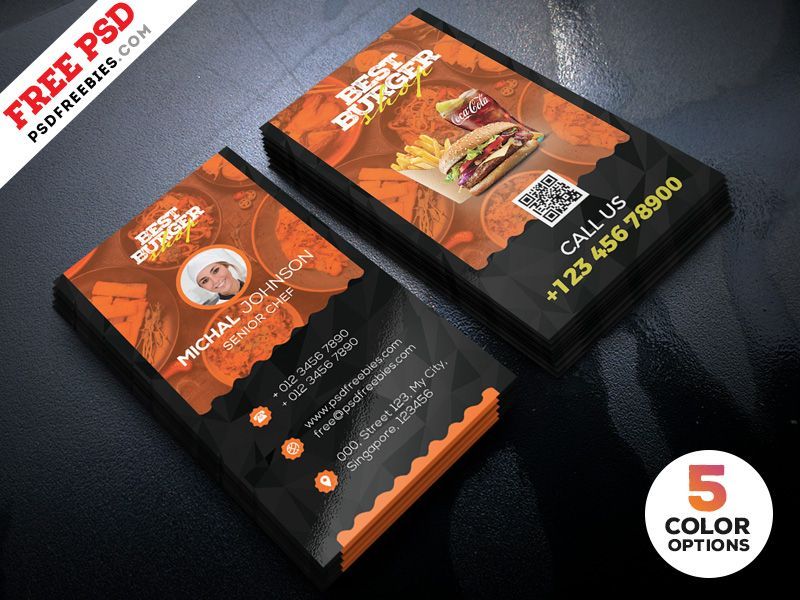 Food Business Card Street Spice Food Business Card Restaurant