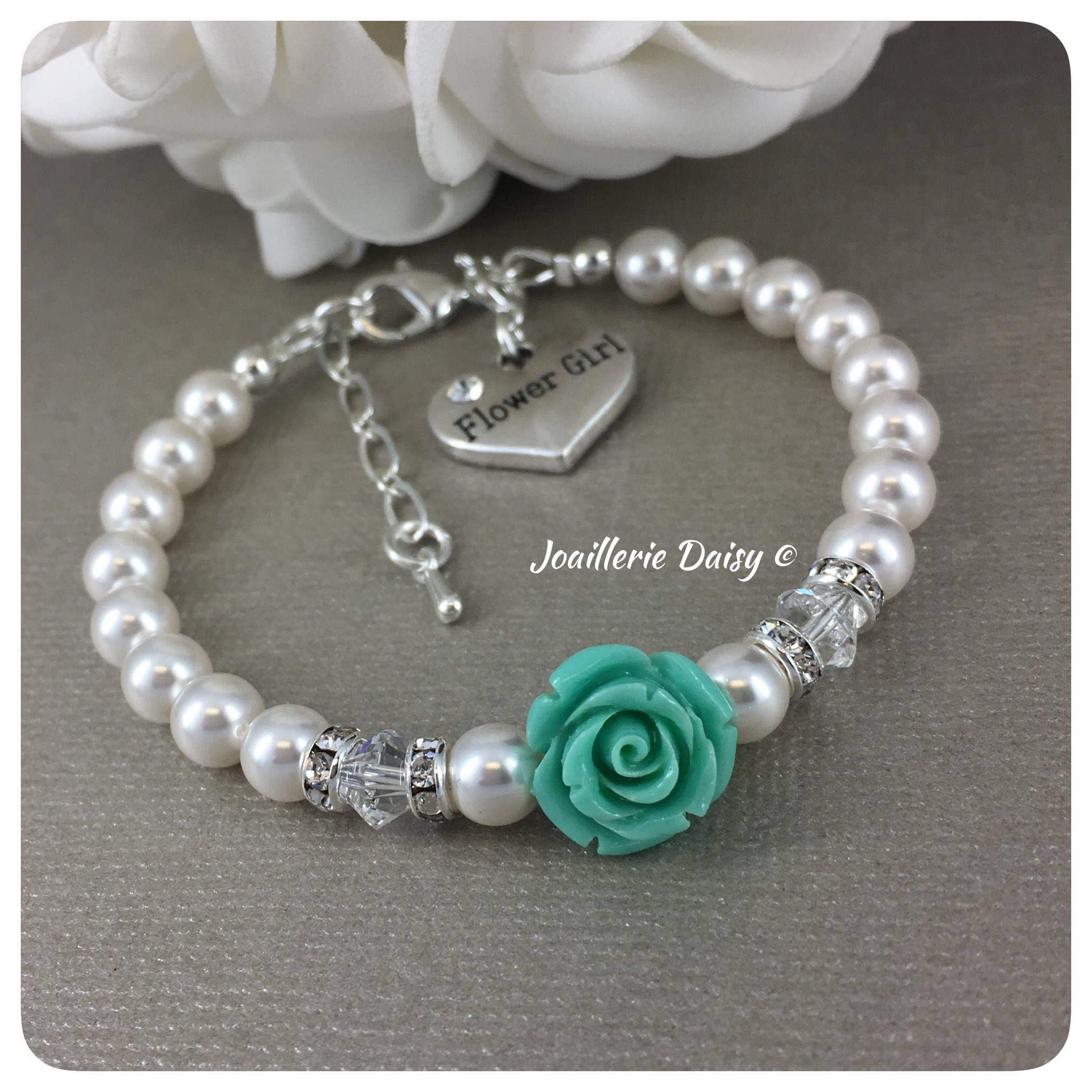 listing personalized flower initial girl photo gallery flowergirl bracelet gijf silver fullxfull girls il