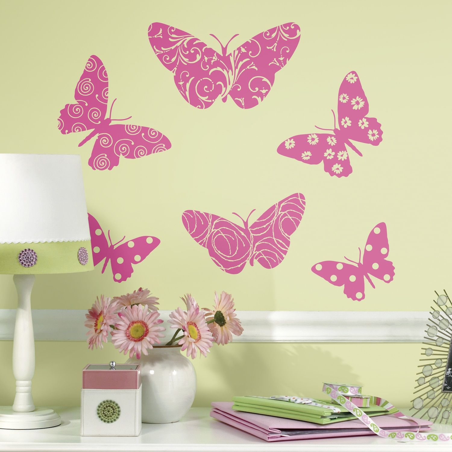 RoomMates Flocked Butterfly Giant Wall Decals | Sarina | Pinterest ...