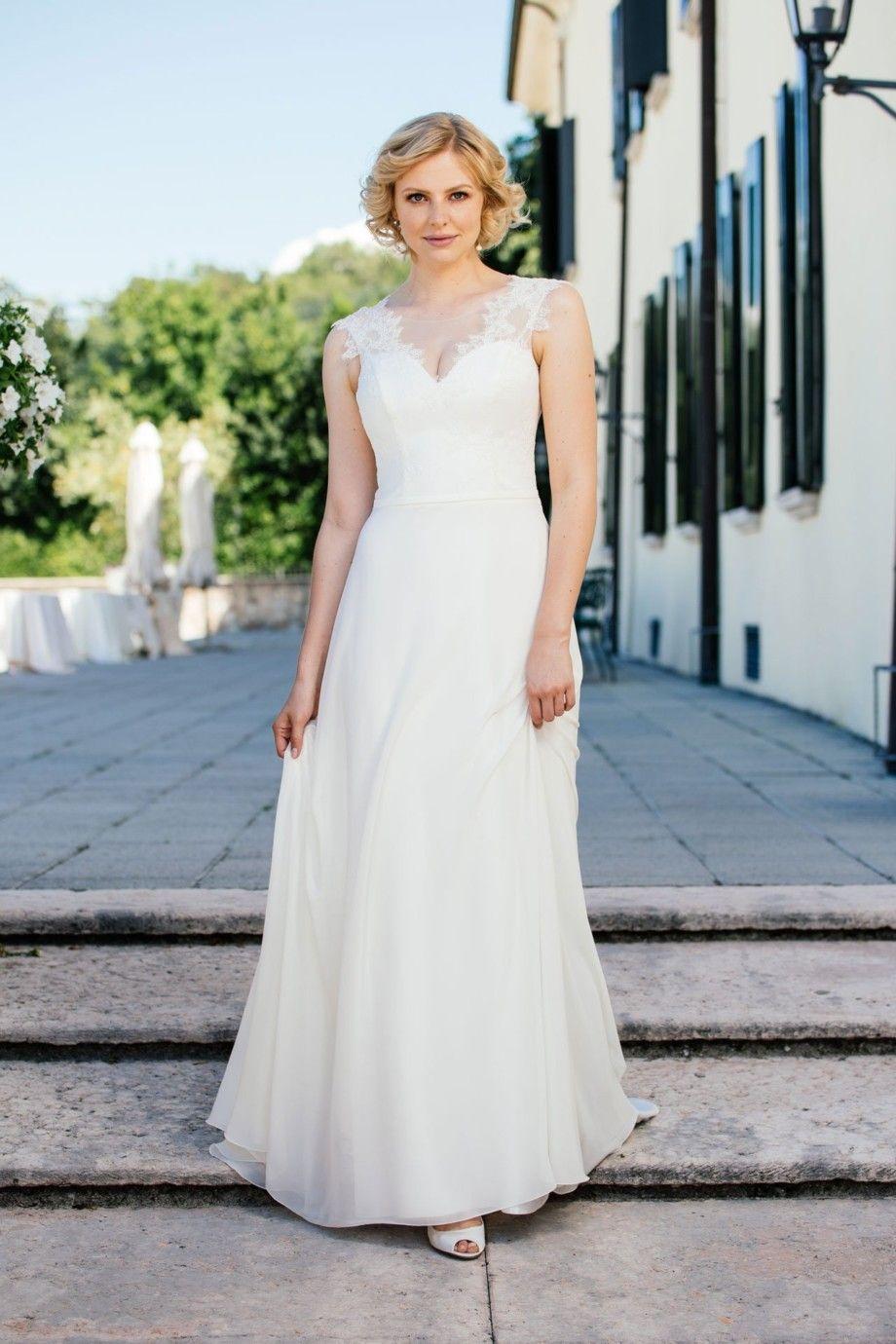 Sexy Brautkleid – tiefe Spitzencorsage mit Herzausschnitt – Pina ...