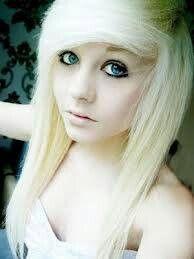 Emo Girl Blond Hair