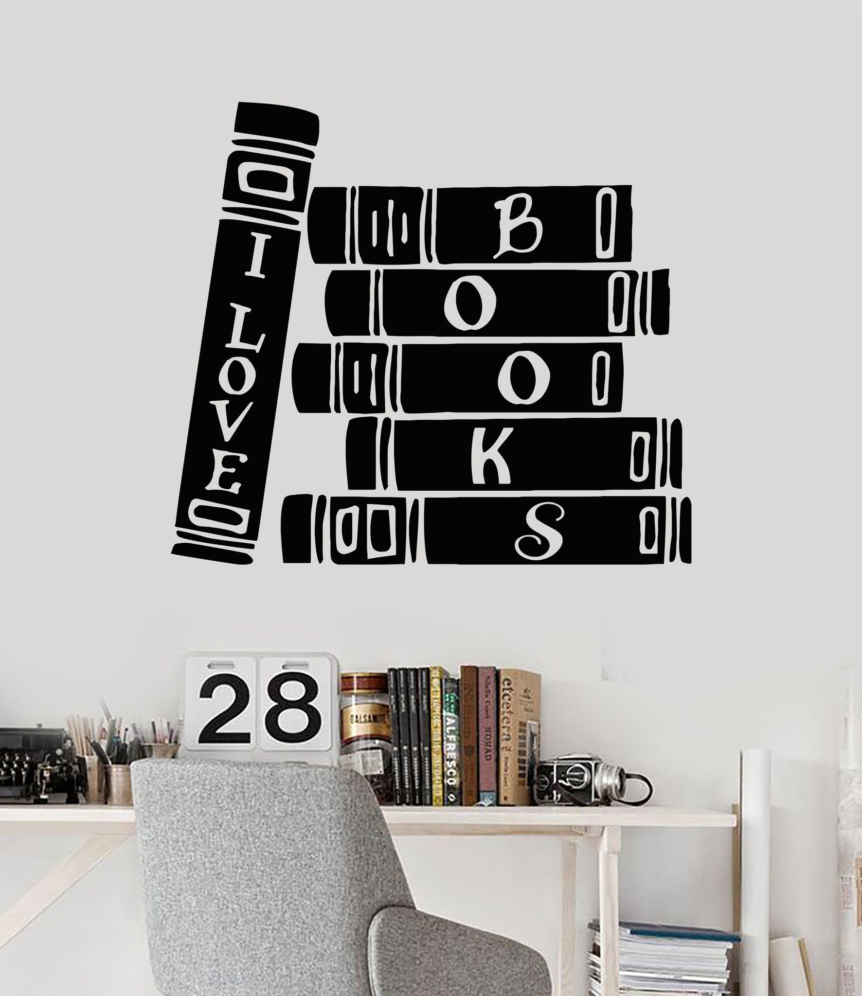 Vinyl Wall Decal Book Store Library Reader Books Bibliophile - Vinyl wall decals books