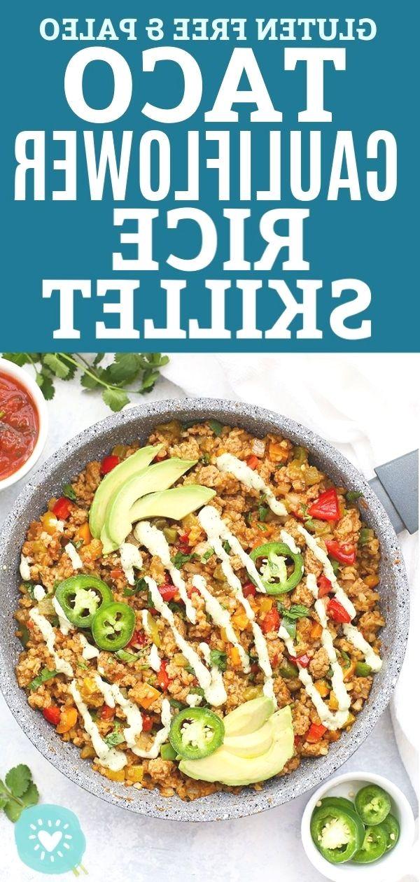 {ground turkey cauliflower rice stir fry|mexican cauliflower rice skillet keto|ground turkey and cau #groundturkeytacos