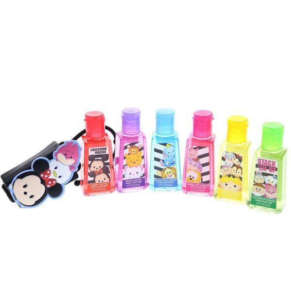 Tsum Tsum 6 Pack Hand Sanitizers With Holder Girls Nail Polish