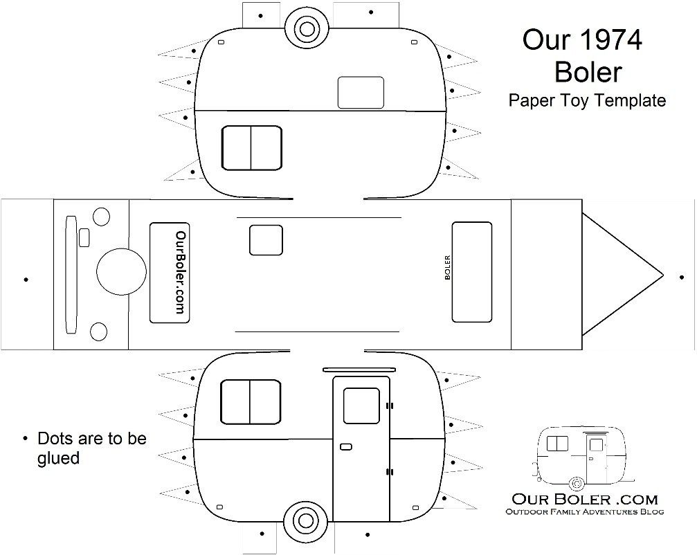 boler trailer paper toy template | Family Outdoor Adventures