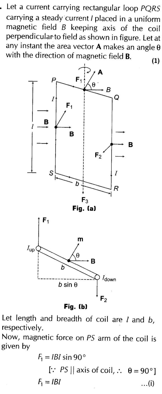 Moving Charges and Magnetism Important Questions for CBSE Class 12 Physics  Magnetic Force and Torque