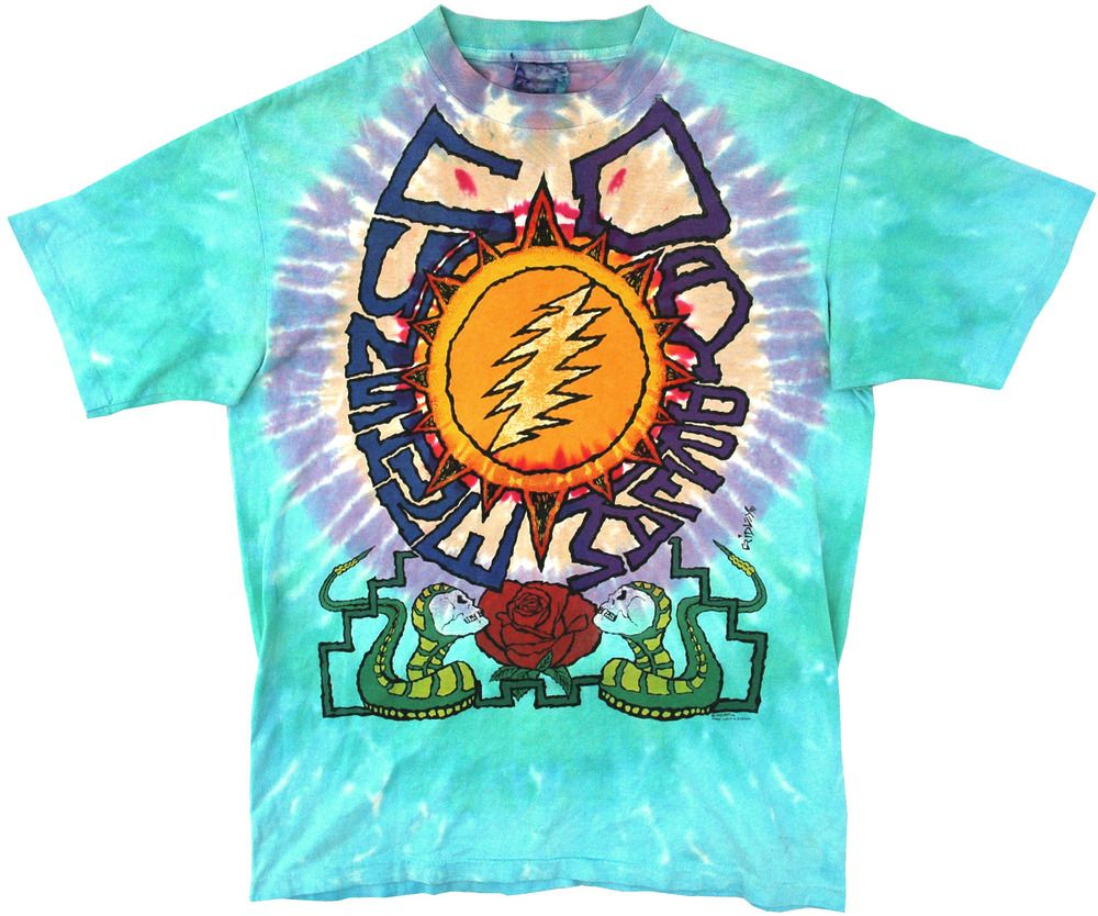 Image of Vintage 1990 Grateful Dead Summer Tour T Shirt Size Large