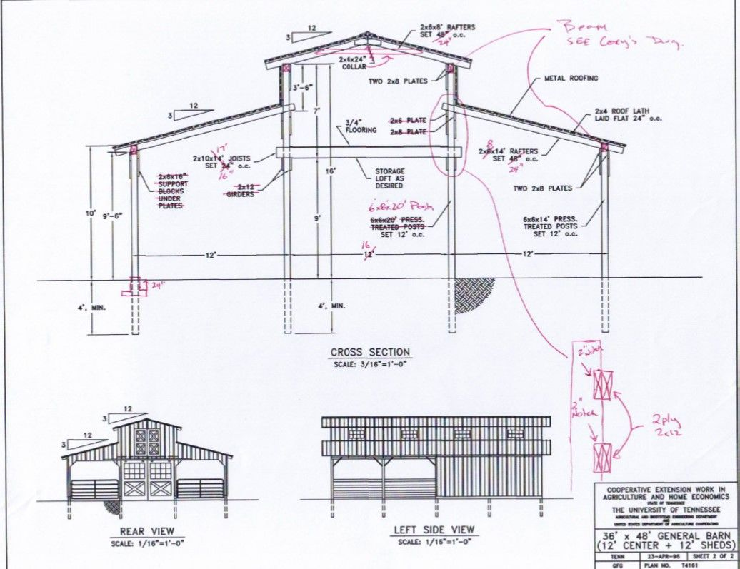 Monitor barn plans google search barn designs for Barn layouts