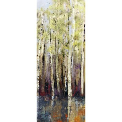 "Star Creations ""Forest Whisper II"" by Allison Pearce Painting Print on Wrapped Canvas"