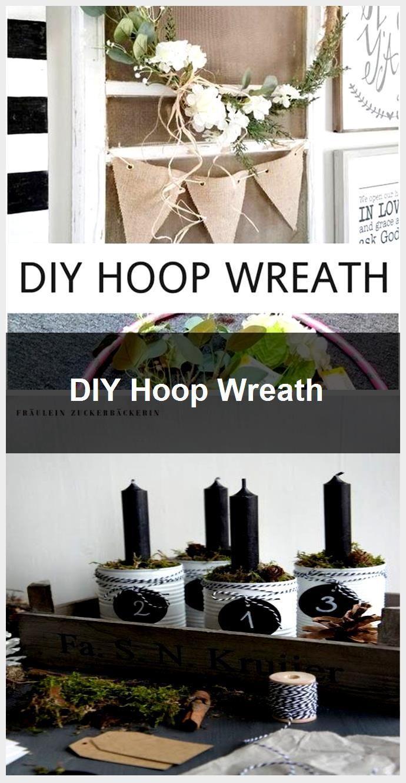 Photo of DIY Hoop Wreath,  #DIY #Hoop #Wreath