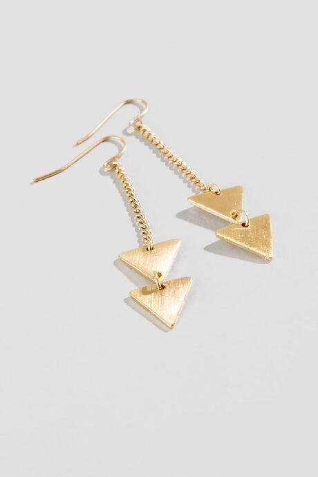 Marfa Triangle Drop Earrings $12.00